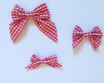 Gingham Sailor Bows