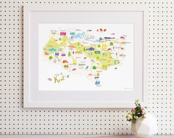 Map of Kent Art Print