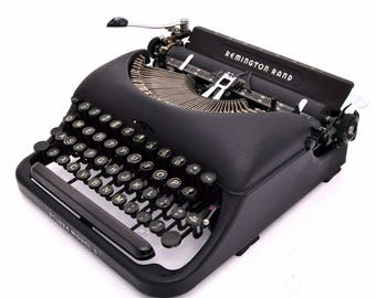 Remington Deluxe Model No.5 Typewriter Professionally Refurbished Portable w/Two New Ribbons & New Platen