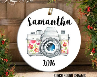 Personalized Photographer Ornament, Photography Ornament, Gift for Photographer, Camera Ornament, Christmas Gift Idea, Gift Under 20 OCH48