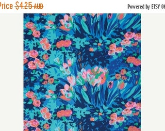40% OFF SALE Amy Butler Fabric - 1 Fat Quarter Meadow Blooms in Midnight / Violette ships from Australia