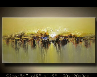 contemporary wall art,Palette Knife Painting,colorful Landscape painting,wall decor,Home Decor,Acrylic Textured Painting ON Canvas Chen 1009