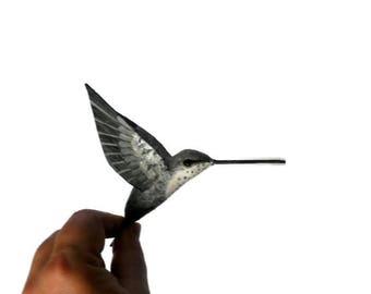 Paper mache Art Bird sculpture Hummingbird figurine