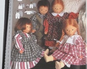 Craft Burda Pattern number 3677 Assorted Doll Clothes Patterns Dolls Height Small 10  inches Medium 12 inches Large 14 inches The New Burda