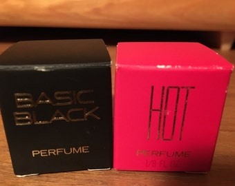 Bill Blass sample pair, Basic Black and Hot.