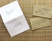 Place Cards and Escort Cards