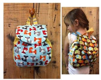 Backpack // Toddler Back Pack // Fox Backpack // Toddler Backpack // Fox // Fox  Bag // Diaper bag