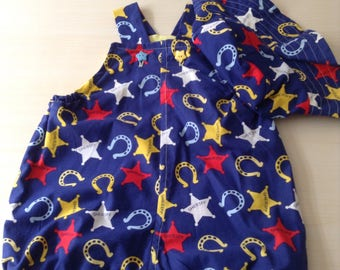 Is there a Sherrif in town? Baby boy/girl two piece set - size 1  12 months  sherrif print perfect for summer / spring with t shirt