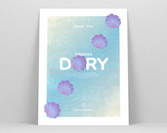 Finding Dory ~ Movie Poster, Pixar Gift, Art Print by Christopher Conner