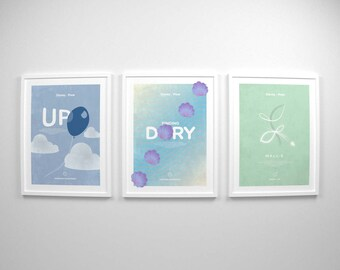 Disney Gifts ~ Up, Finding Dory, Wall-e, Movie Posters, Art Prints by Christopher Conner