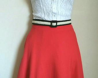 Vintage bright red eighties retro skirt