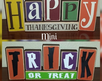 NEW NEW MINI Reversible Holiday Blocks For Every Occasion! 5 Letters