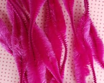 Vintage Magenta Bump Chenille | Wired Chenille Sticks | Pink, Purple