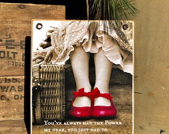 Beautiful Wizard Of Oz Art With Inspirational Quote / Art Adhered To Wood Ready To Display / Handmade in the USA