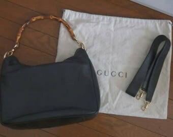Gucci bamboo bag vtg
