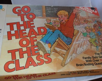 Vintage 1986 50th Anniversary Deluxe Edition Go To The Head Of The Class board Game Milton bradley