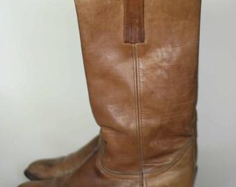 vintage frye boots mens size 10.5D black label