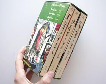Mervyn Peake's Gormenghast Trilogy Boxset With Green Slipcase - Vintage Paperbacks - Sixth Printing 1974