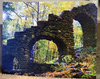 Madam Sherri's Castle Ruins - Chesterfield, MA  8 x 10 - This canvas has a blue tooth speaker