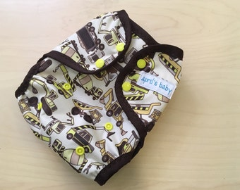 One size PUL waterproof cloth diaper cover- dig it