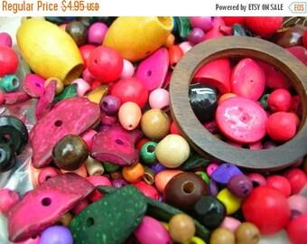 Colorful Wooden Bead Destash