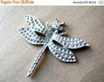 Vintage Rhinestone Dragonfly Blank - Signed Rhinestone Dragonfly - Kirks Folly Dragonfly - Vintage Signed Jewelry