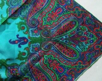 Vera Paisley Floral Multi-colored Silk Scarf