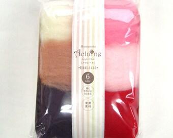 Hamanaka Aclaine Wool Felt 6 Color Set H441-141-1