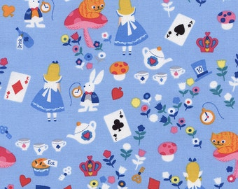 Fat Quarter Alice in Wonderland 100% Cotton Quilting Fabric Timeless Treasures