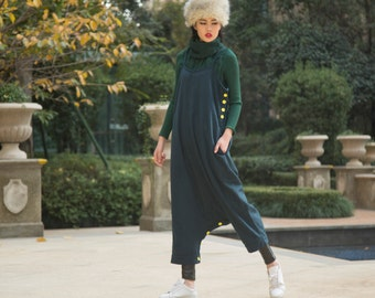 green stripe dress wool maxi dress pants---a pants a dress black grey linen dress