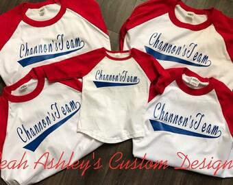 Baseball tee etsy for Custom baseball tee shirts