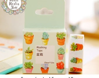 Succulent Washi Tape - So pretty for your planner & art journal pages!