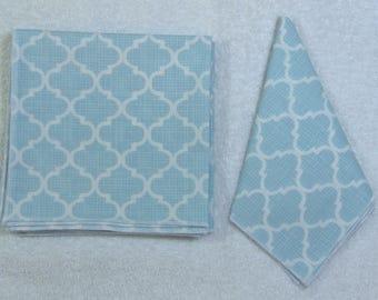 Everyday Eco Friendly Reusable Cotton Napkins 12 x 12 Set of 6 Ready to Ship