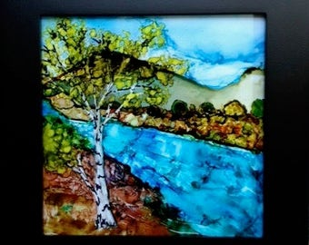 RIVER BIRCH -- Original alcohol ink