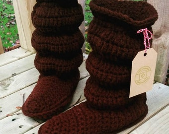 Womens slouchy slipper boots