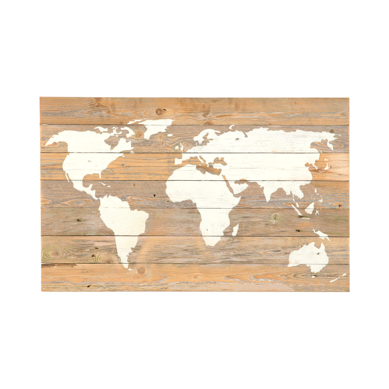 Reclaimed Wood World Map New Lower Price