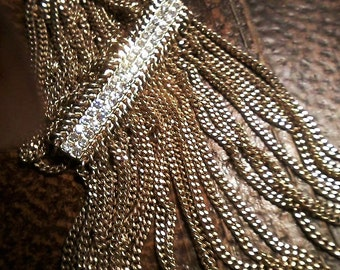 Multi Strand Rhinestone Necklace