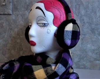 Ear Muffs with Matching Scarf