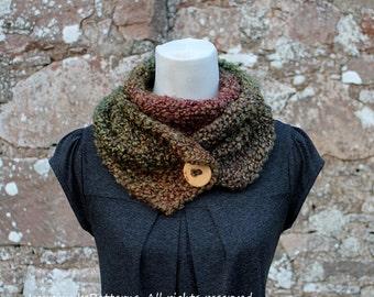 KNITTING PATTERN - Herb Garden button scarf - Listing89