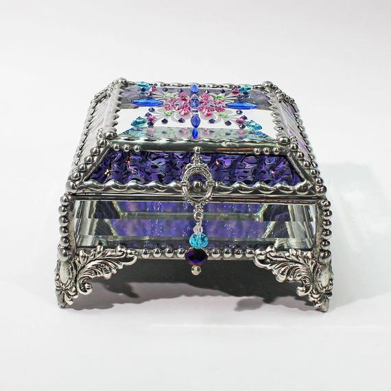 Jewel Encrusted Treasure Box -4x4