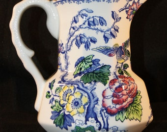 Elegant and Detailed Crown Staffordshire England Pitcher