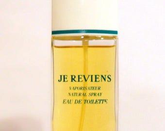 Vintage 1970s Je Reviens by Worth 1.69 oz Eau de Toilette Spray PERFUME