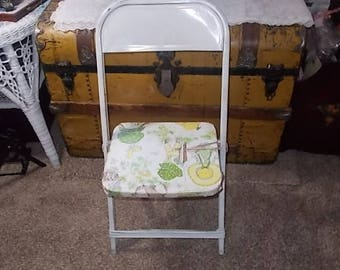 Child's Metal Folding Chair, Child's Size Chair, Child's Chair, Children's Furniture, Children's Size Chair
