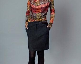 """skirt """"bleibtreu"""", denim brown-grey"""