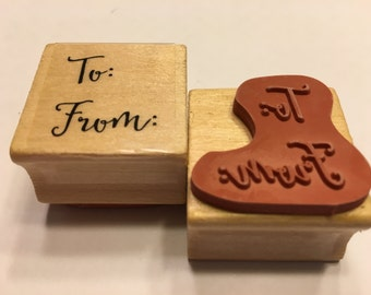 To...From.. rubber stamp, 25 mm (BB4/8)