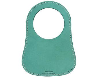 Personalized Fuel Bib For Classic Mini, Teal Leather, Free Shipping