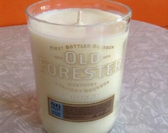 Upcycled Whisky Bottle Candle