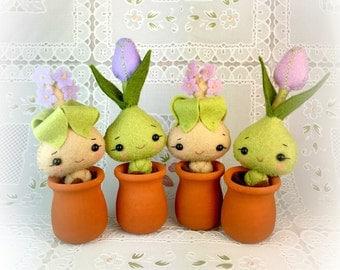 Kawaii Mandrake and Tulip