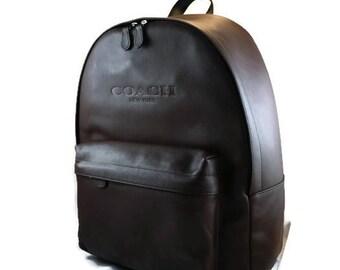 Leather COACH Backpack Camera Bag   ONE MADE!!  Mens Backpack Camera Bag