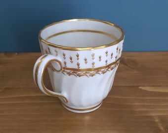 Antique Georgian Shank and Fluted Coffee Cup c1795